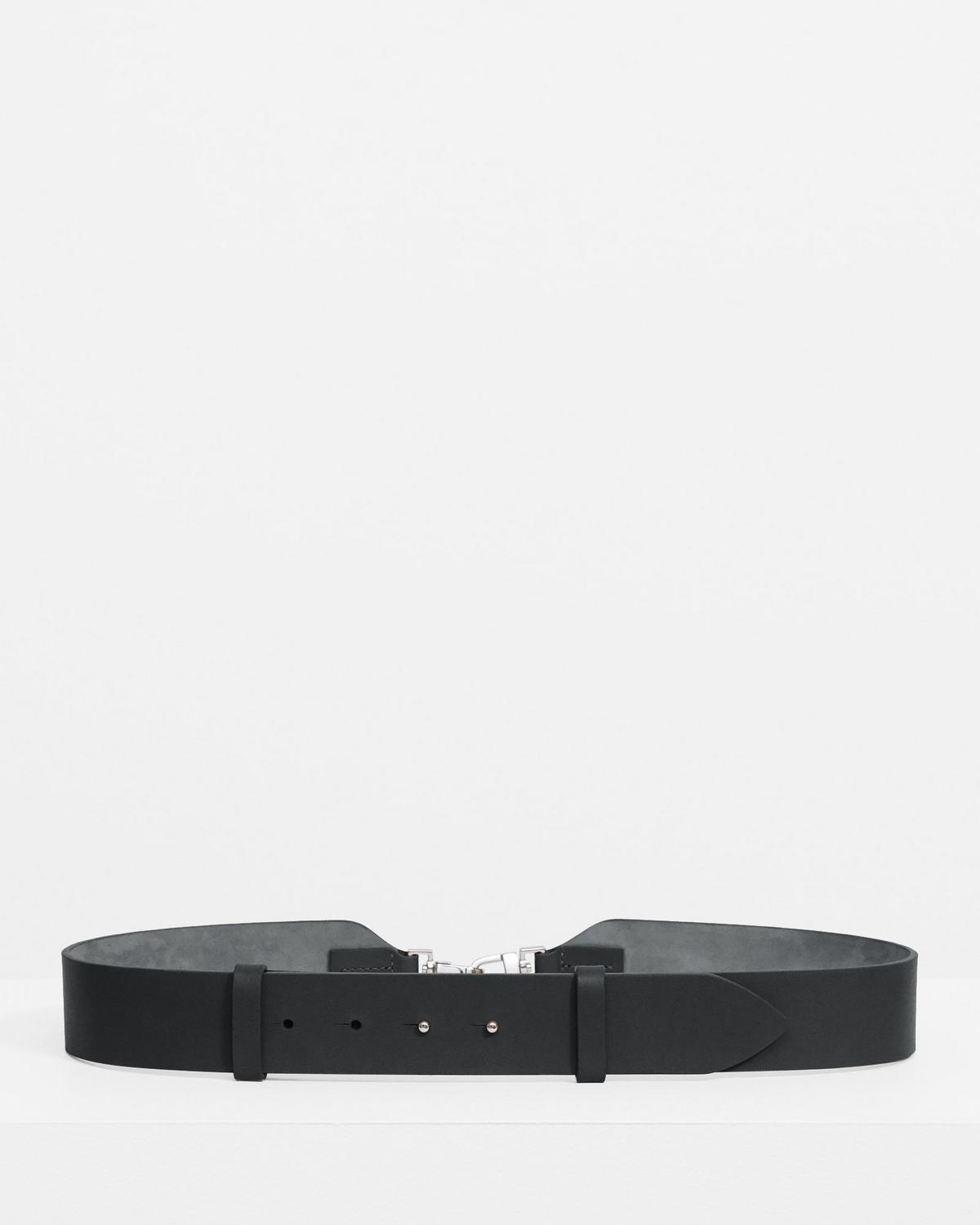 Clip Belt in Leather