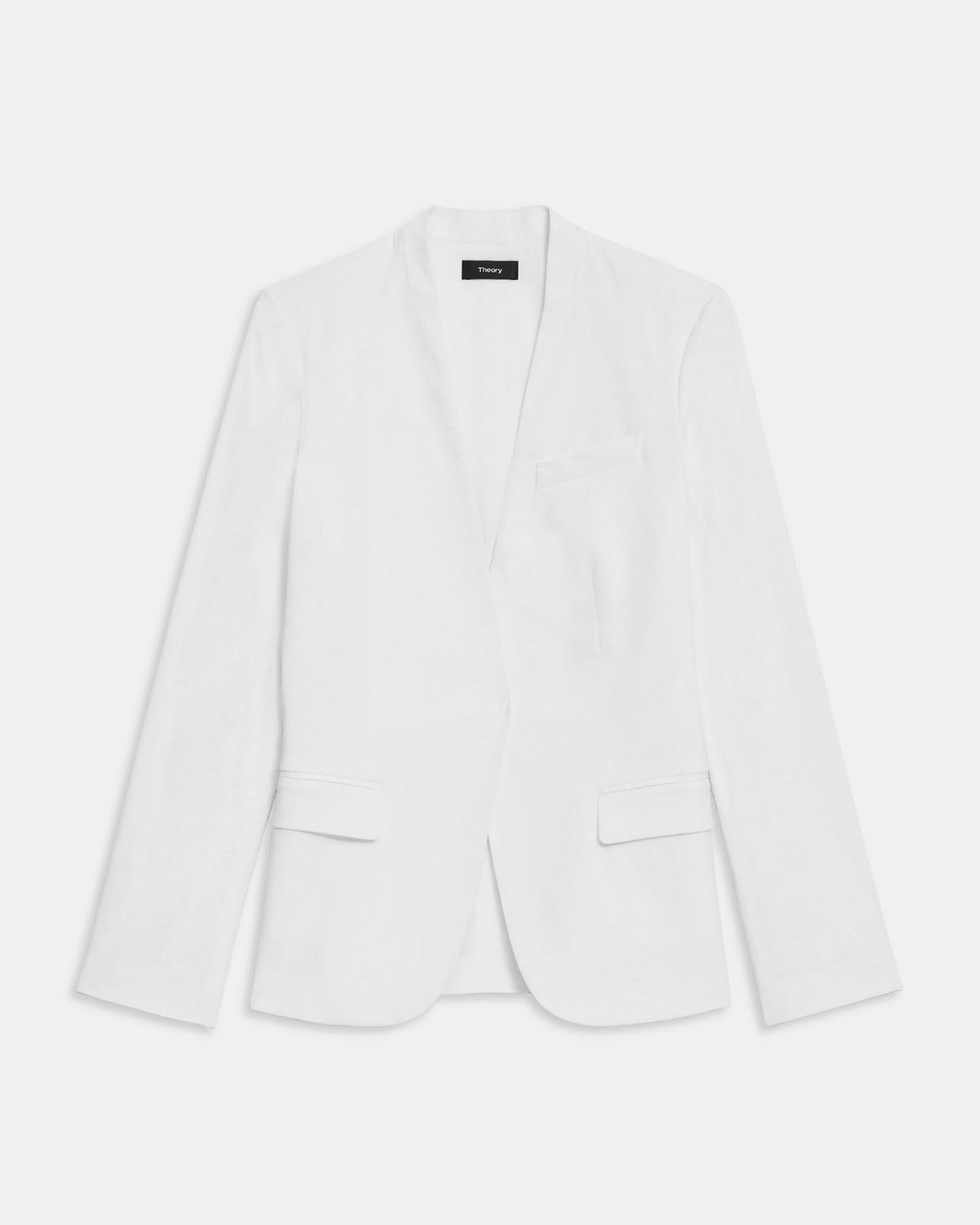 Staple Collarless Blazer in Good Linen
