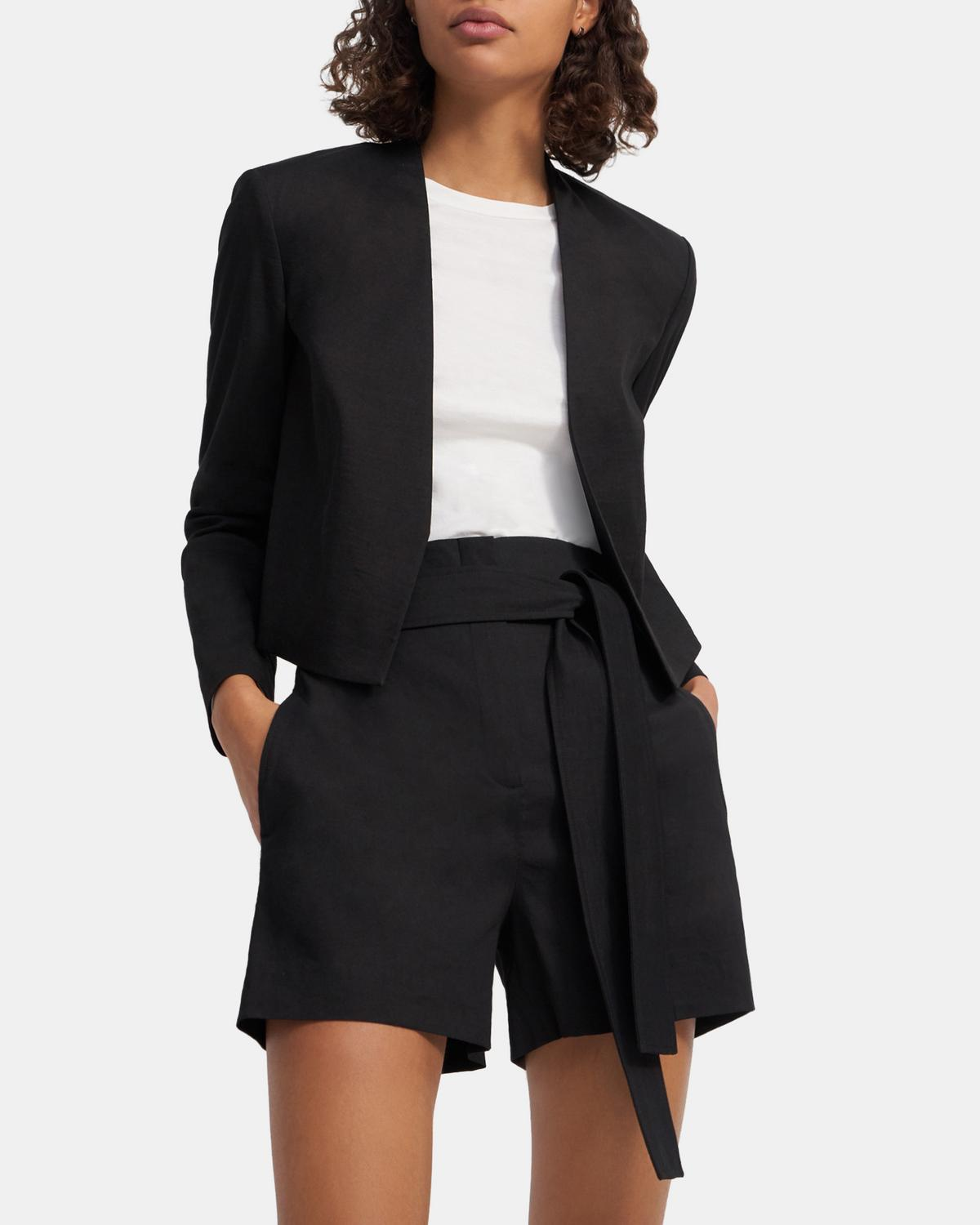 Belted Short in Good Linen 0 - click to view larger image