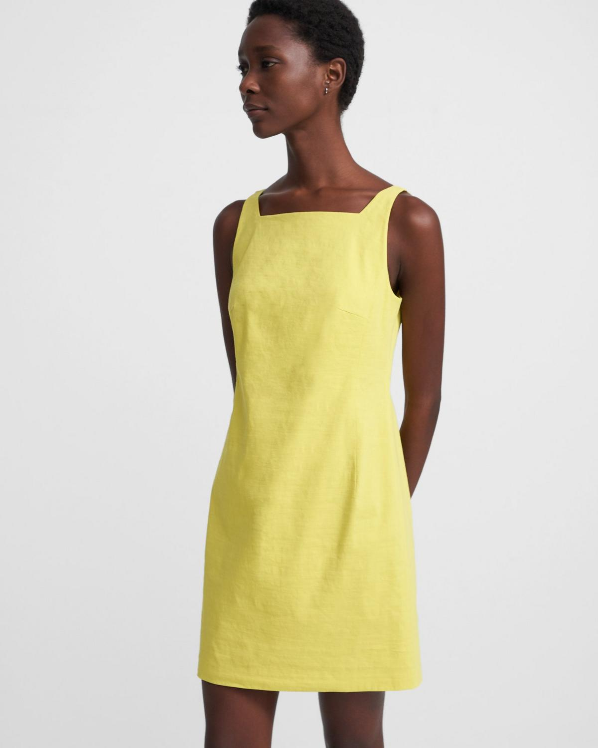 Square Neck Dress in Good Linen