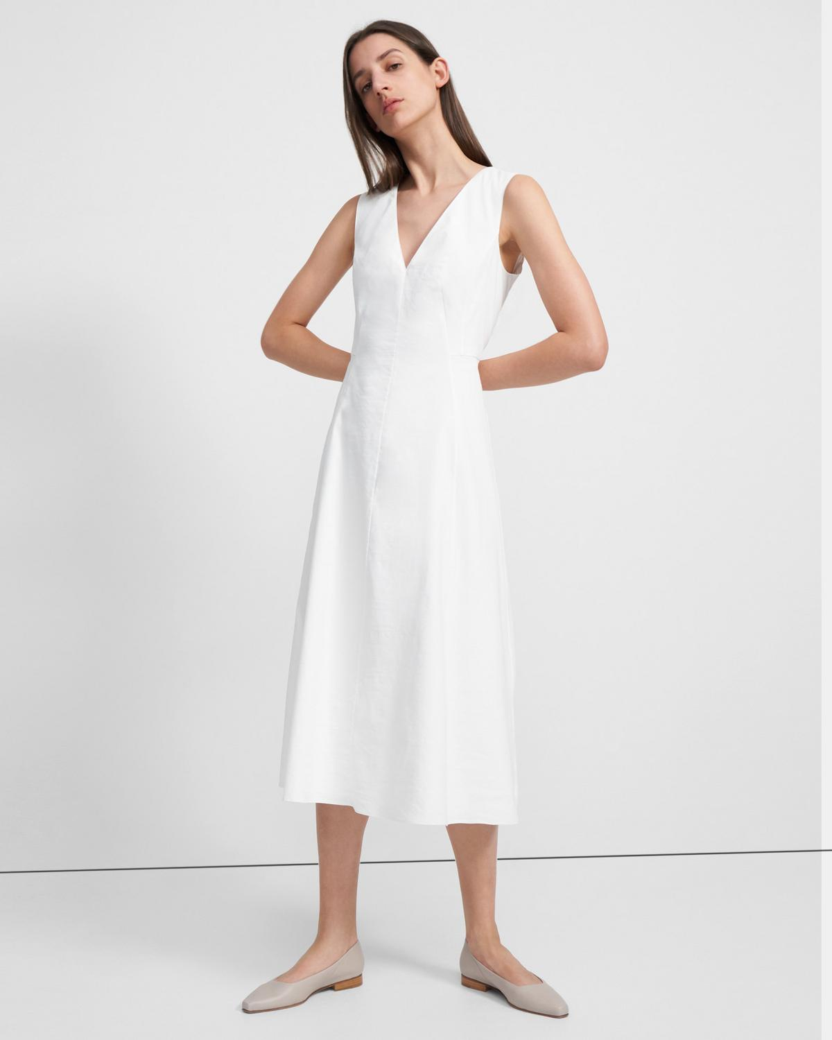 SEAMED V DRESS B