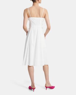 Button Front Dress in Good Linen