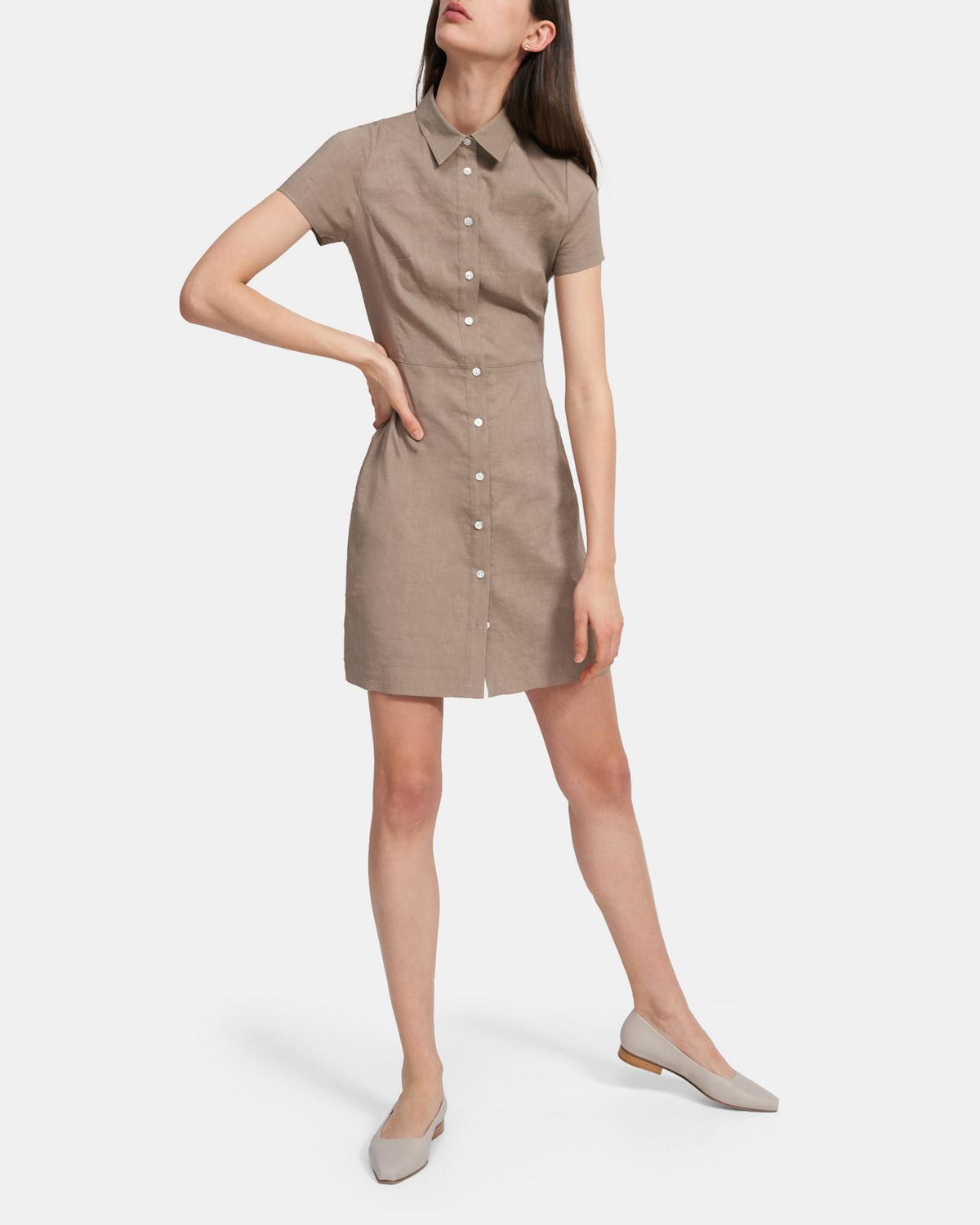 Shirtdress in Good Linen 0 - click to view larger image