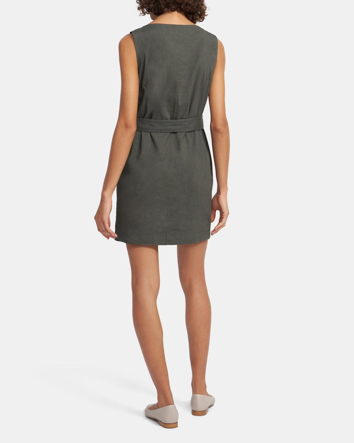 Belted Shift Dress in Good Linen