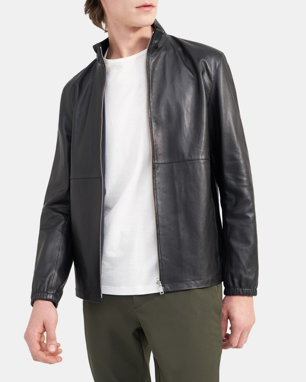 Theory Nathan Reversible Jacket in Leather