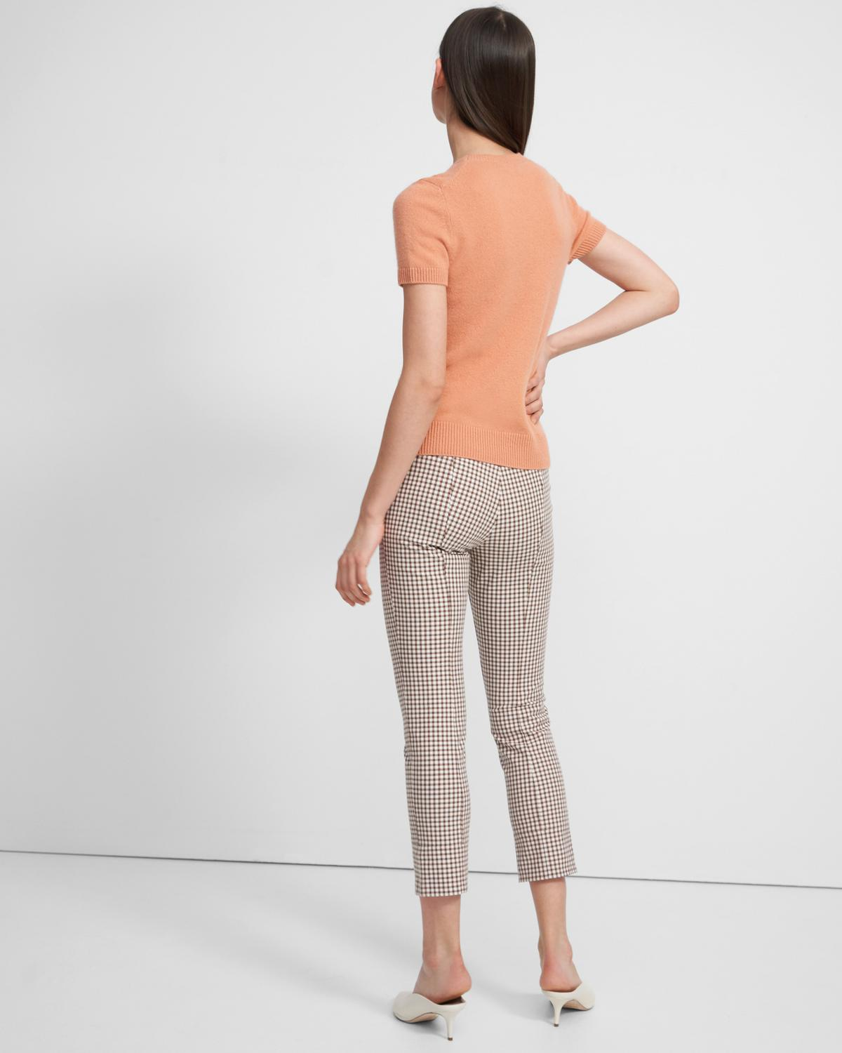 Skinny Legging in Grid Stretch Cotton