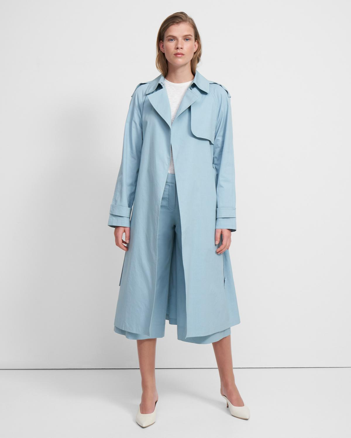 Essential Trench Coat in Cotton-Silk