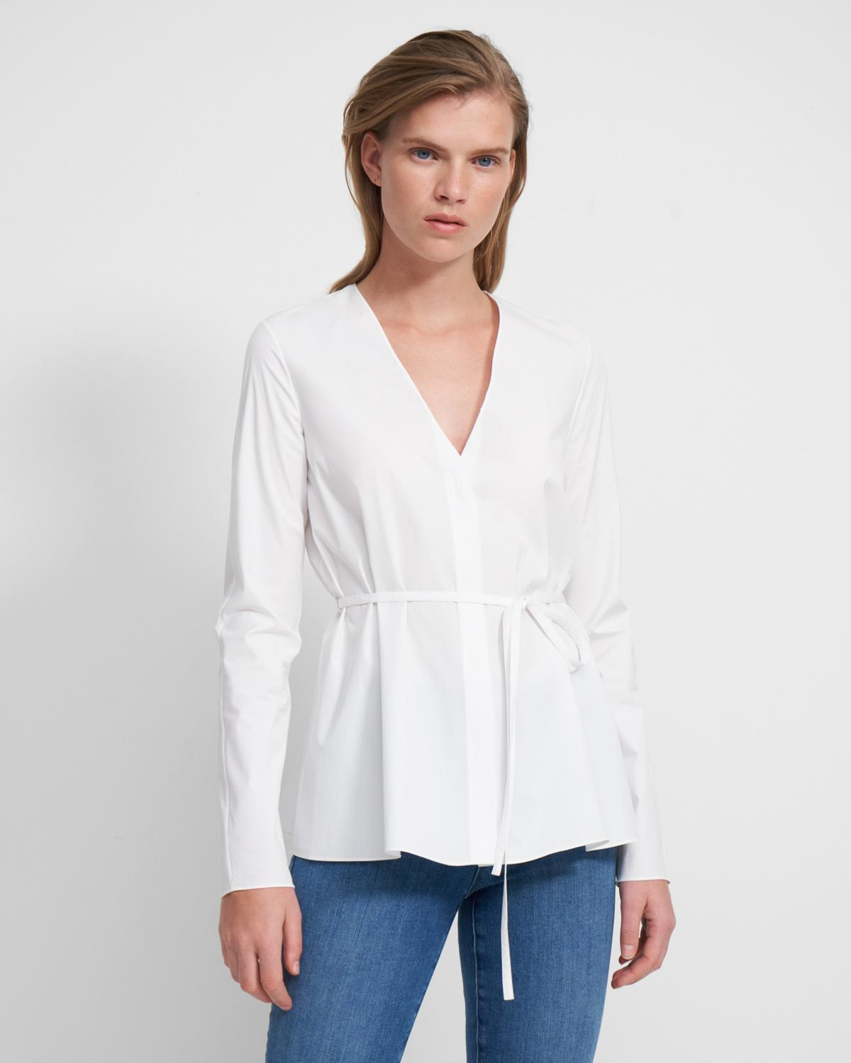V NECK TIE TOP