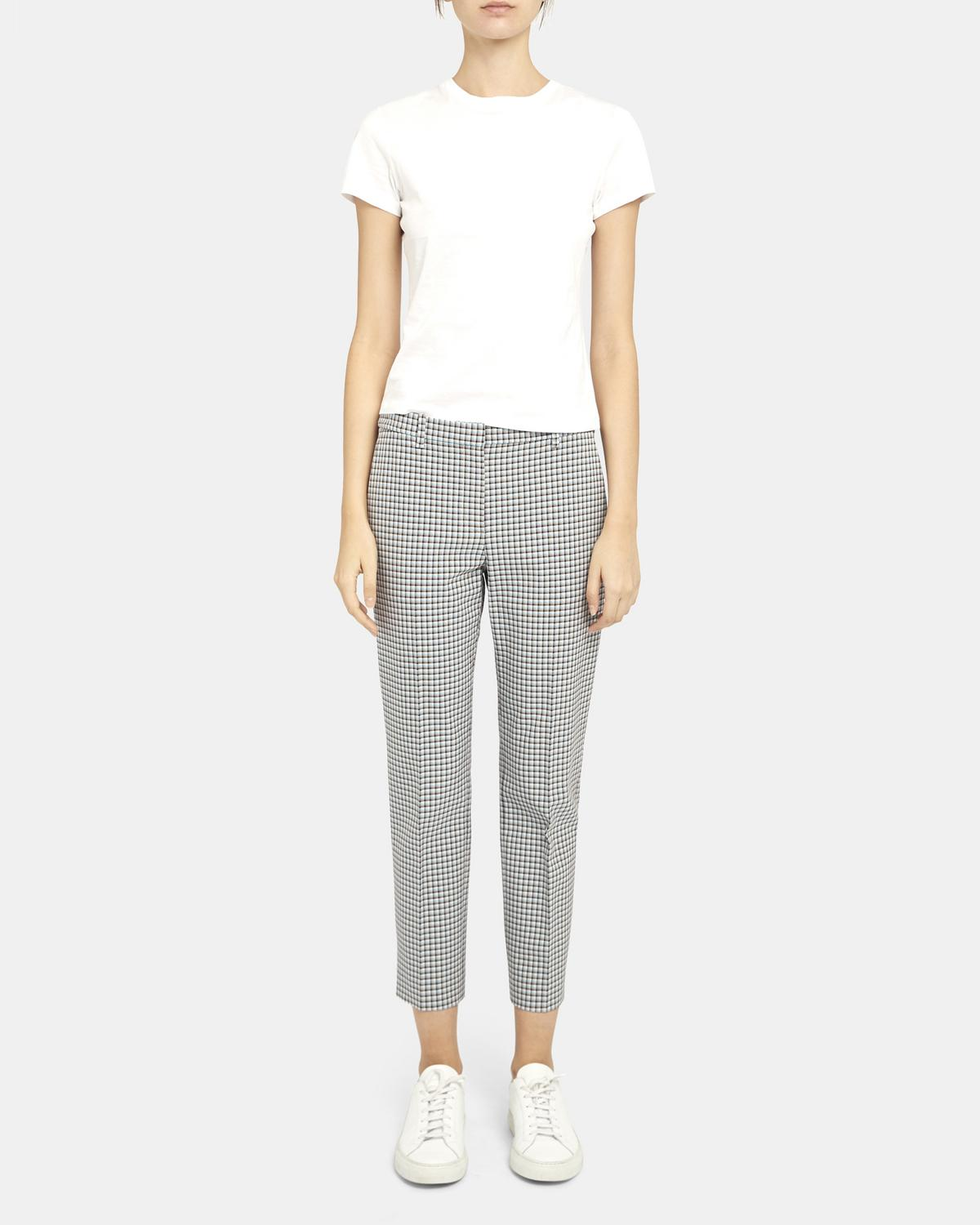 Treeca Pant in Check Viscose
