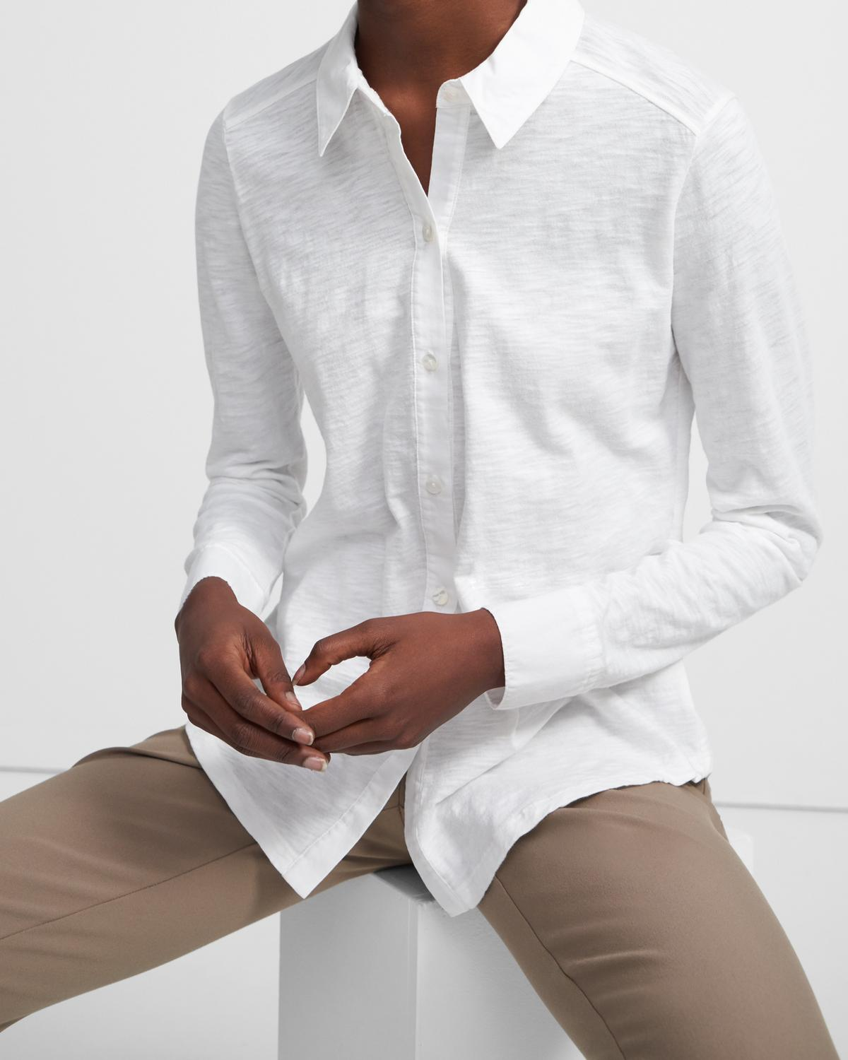 Button Up Shirt in Organic Cotton 0 - click to view larger image