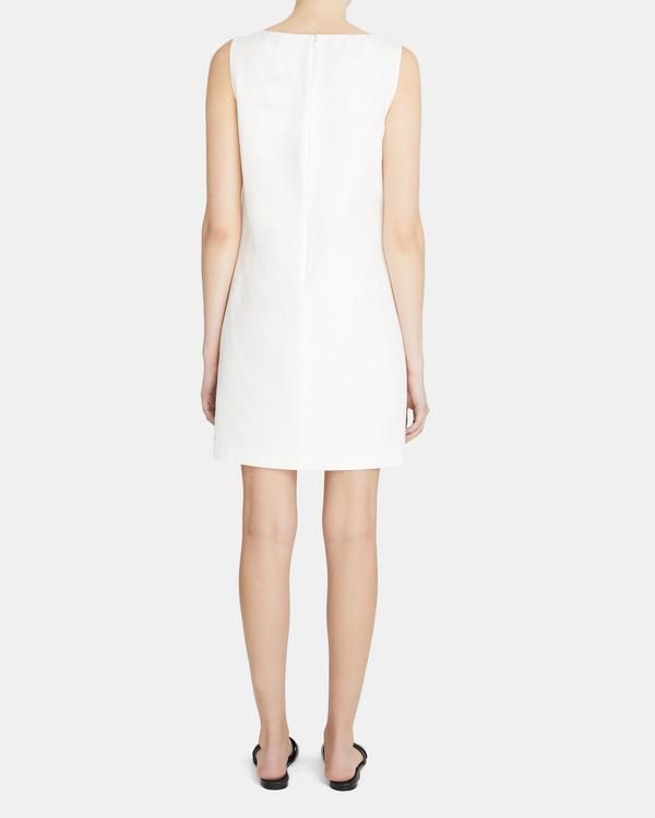 띠어리 스쿱넥 쉬프트 원피스 Theory Scoop-Neck Shift Dress in Silk-Cotton Jacquard,IVORY