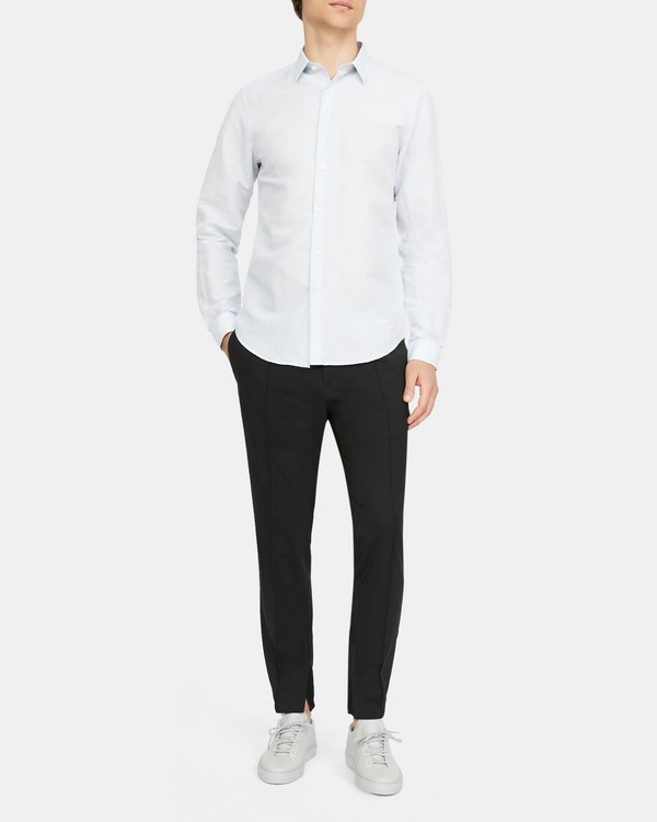 Standard-Fit Shirt in Linen-Cotton