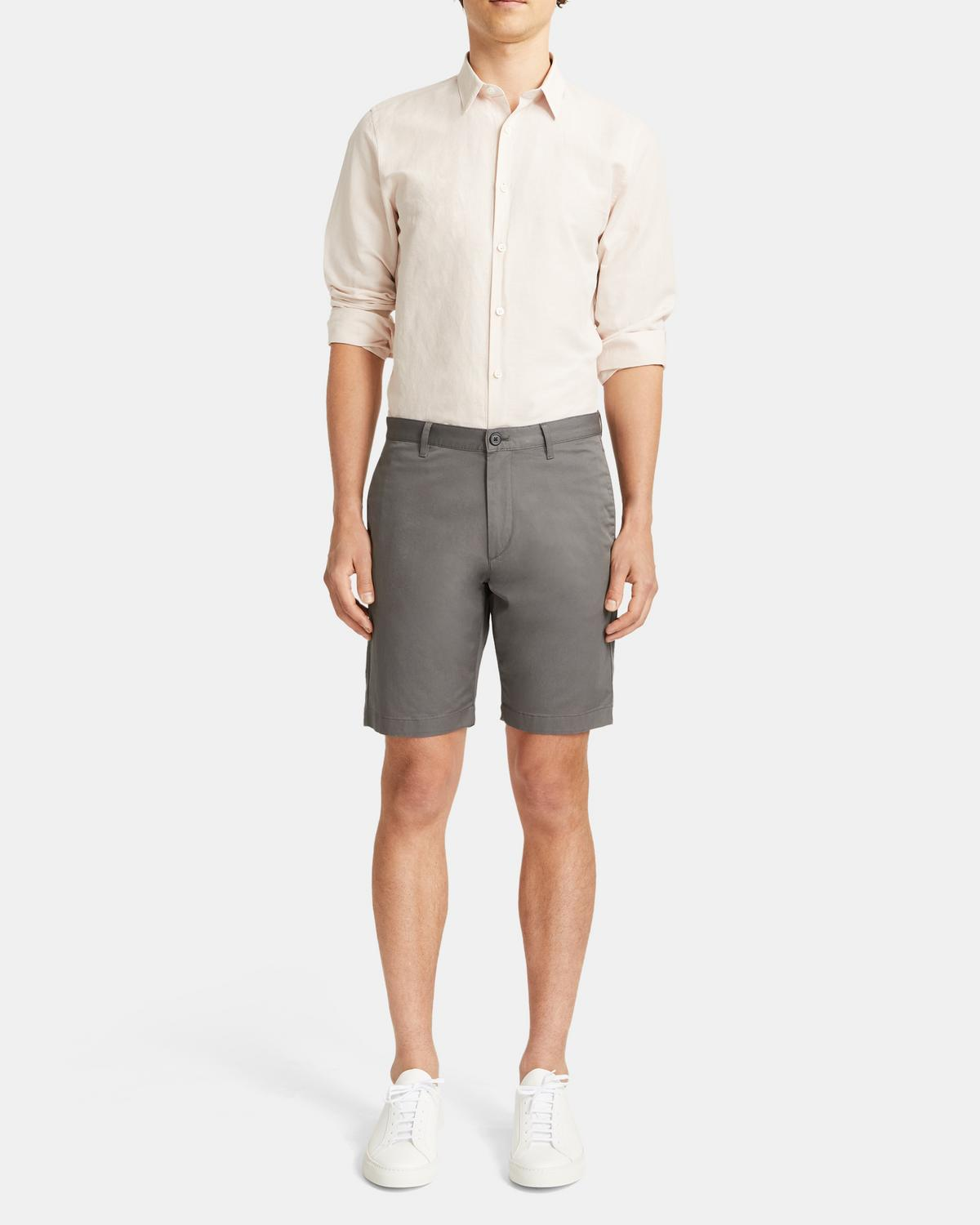 Zaine Short in Stretch Cotton Twill 0 - click to view larger image