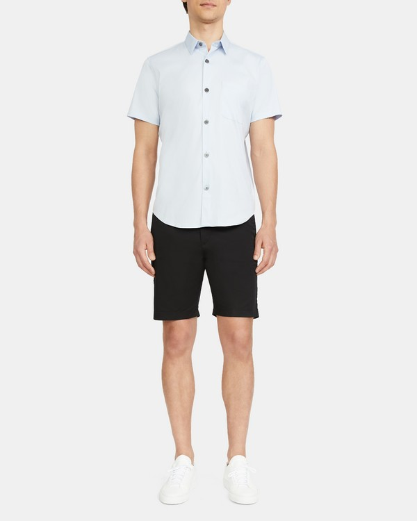 Short-Sleeve Shirt in Stretch Cotton