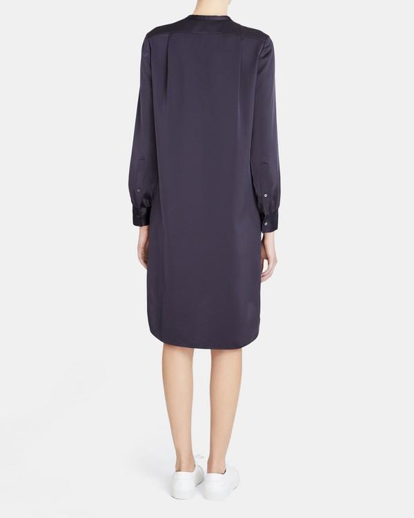 띠어리 팝오버 튜닉 원피스 Theory Popover Tunic Dress in Satin,INK