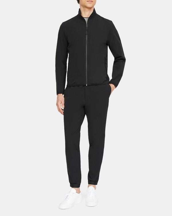 띠어리 맨 자켓 Theory Tech Jacket in Stretch Nylon,BLACK