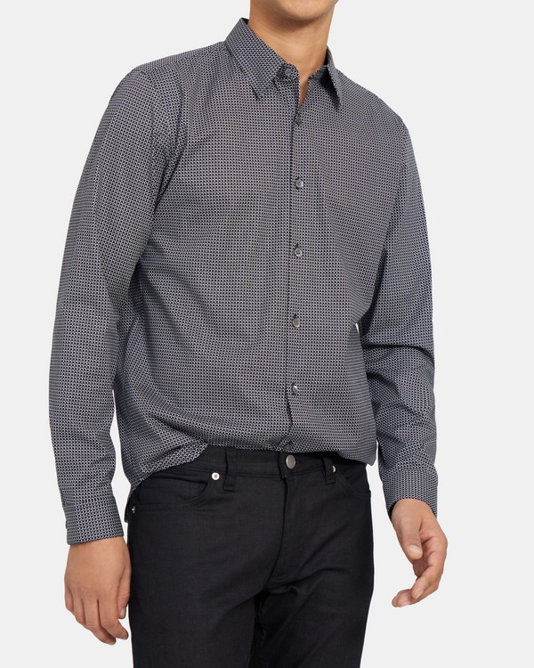 Standard-Fit Shirt in Chicane Print Cotton