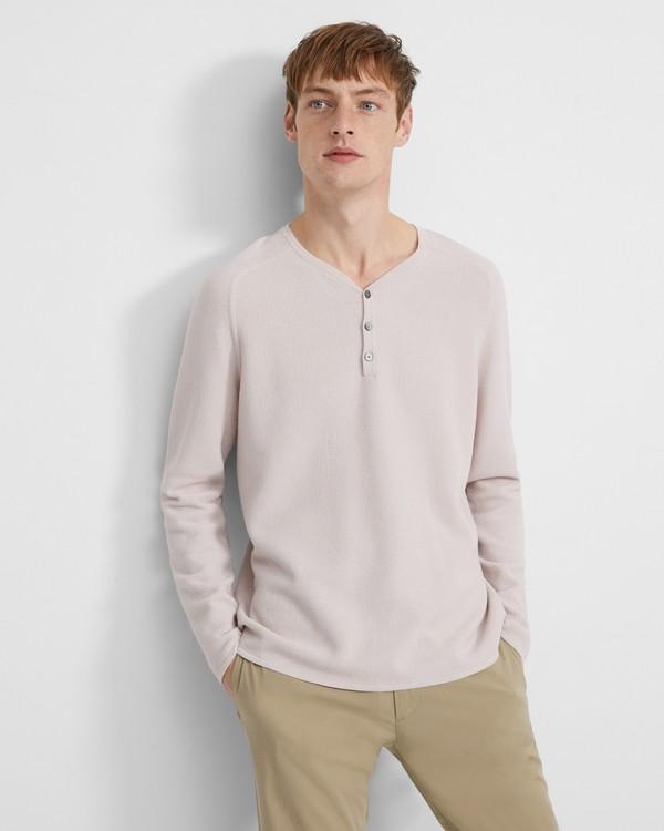 띠어리 맨 셔츠 Theory Henley Shirt in Sleek Cotton