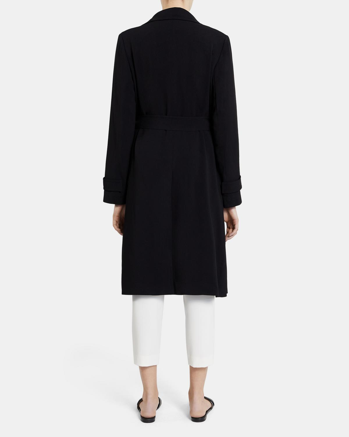 Oaklane Trench Coat in Rosina Crepe 0 - click to view larger image
