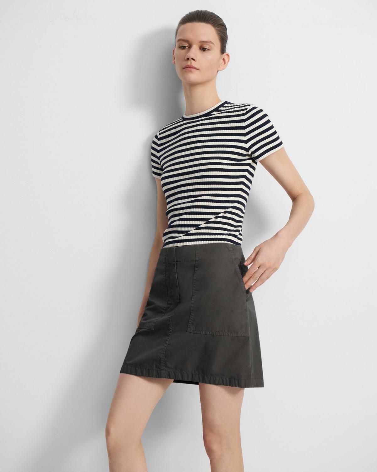 Utility Skirt in Garment Dyed Chino