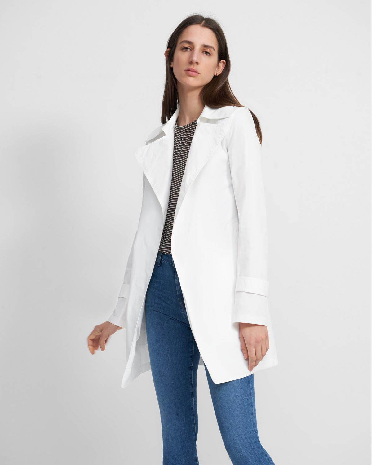 Oaklane Short Trench Coat in Garment Dyed Chino 0 - click to view larger image