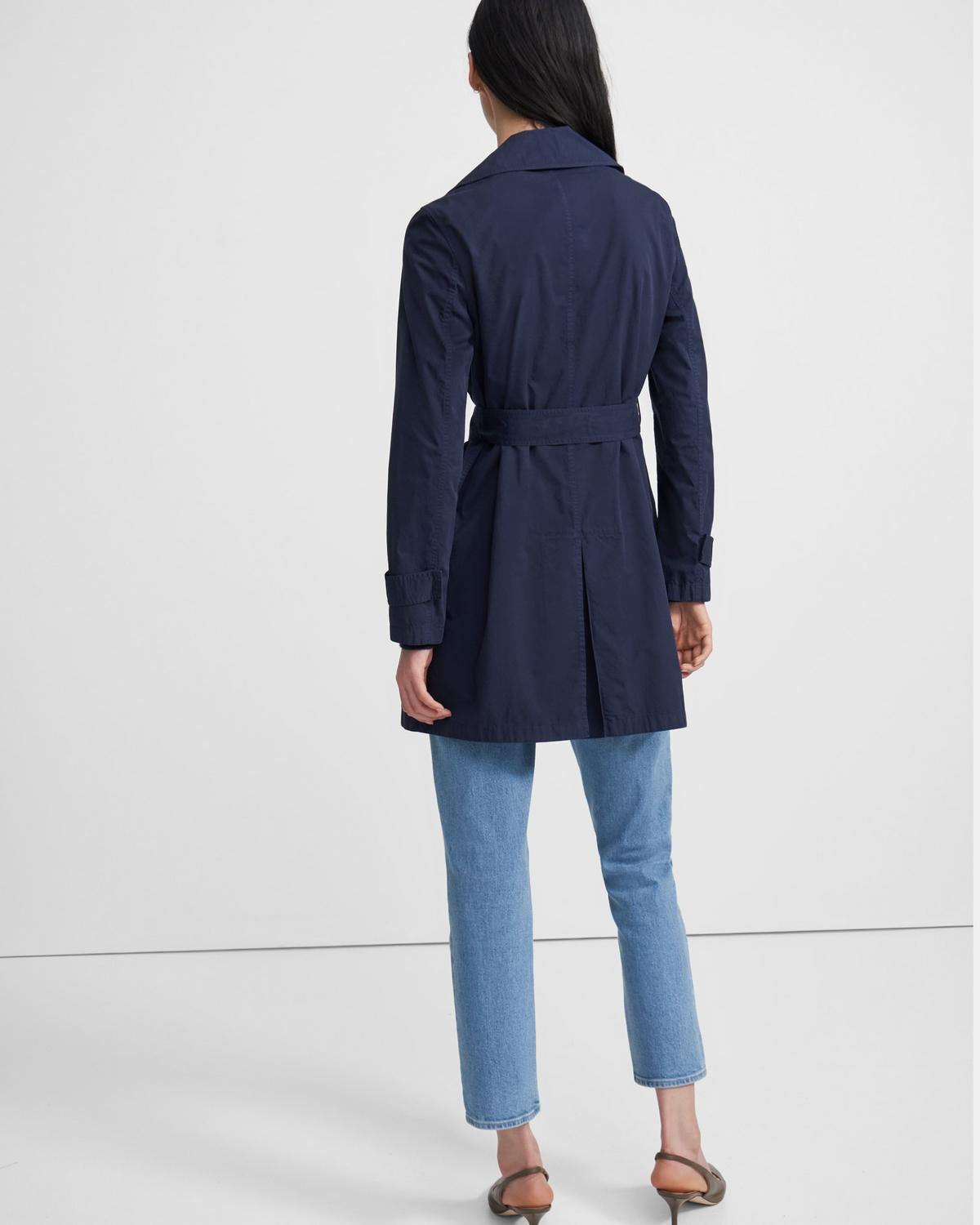 Oaklane Short Trench Coat in Garment Dyed Chino