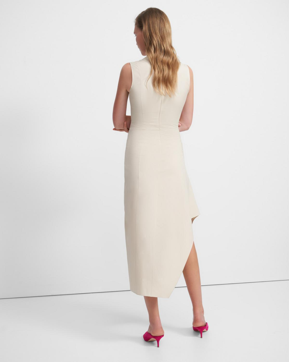 Cascade Dress in Stretch Cotton