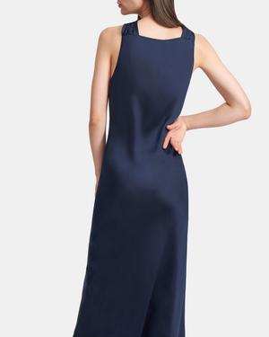Twist Slip Dress in Slinky Twill