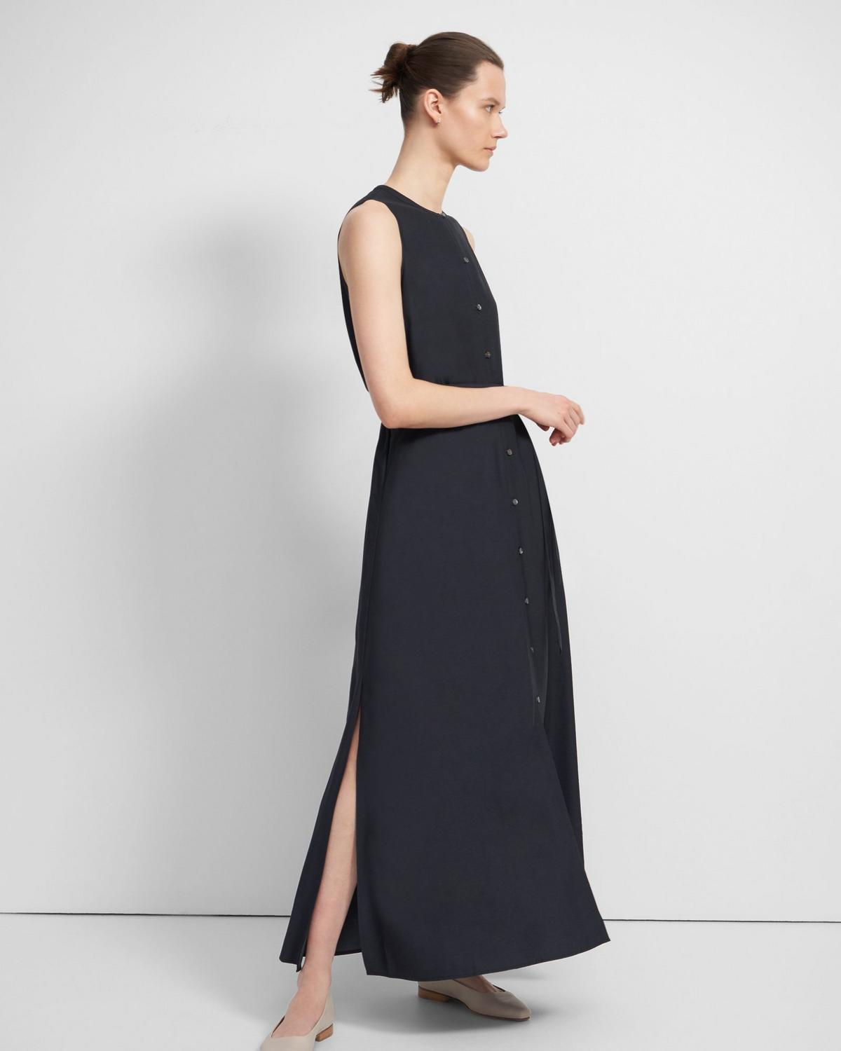 Maxi Shirtdress in Viscose Twill