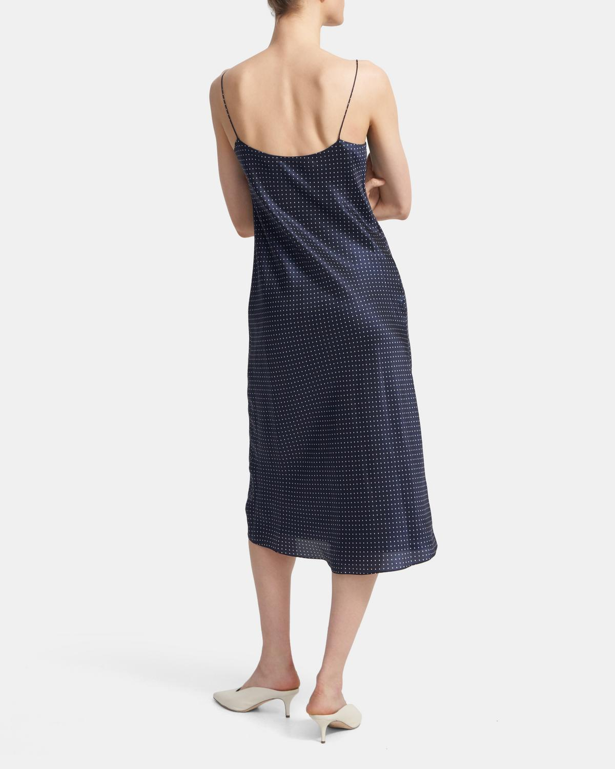 Slip Dress in Polka Dot Cupro