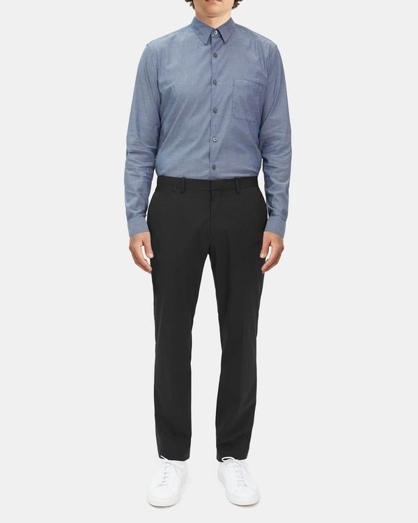 띠어리 맨 바지 Theory Marlo Pant in Sartorial Stretch Wool,BLACK