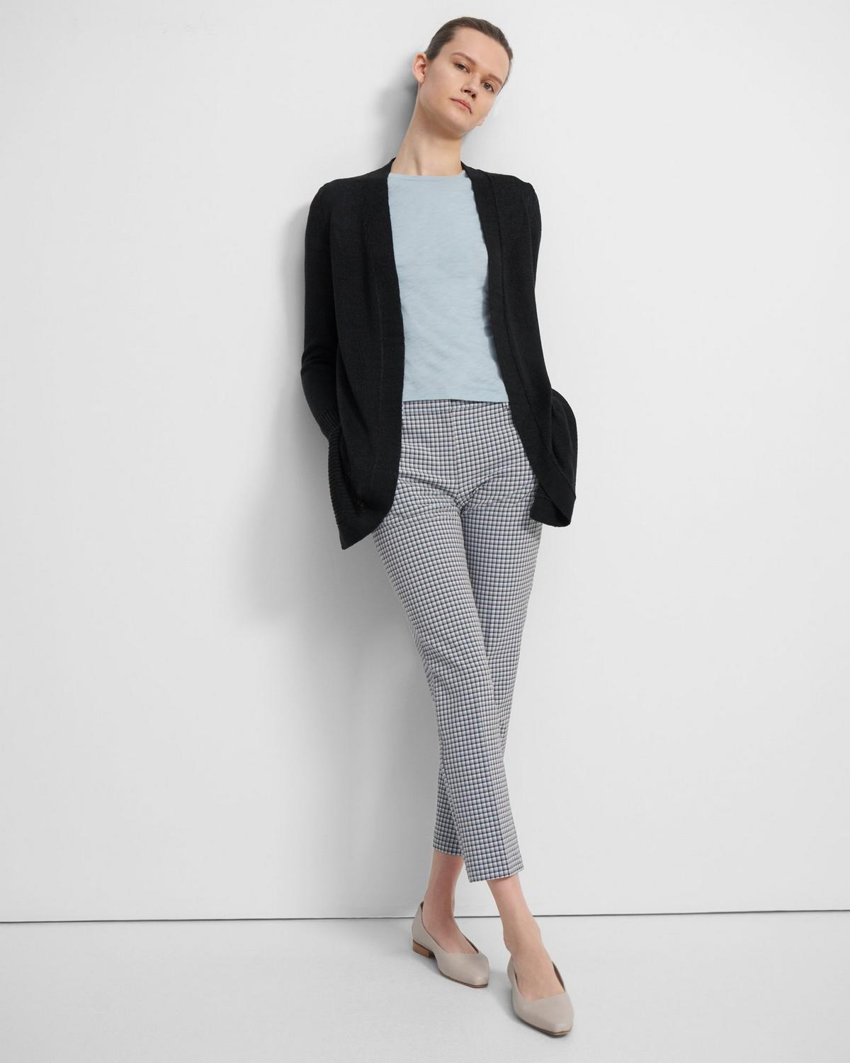 Open Front Cardigan in Linen Blend