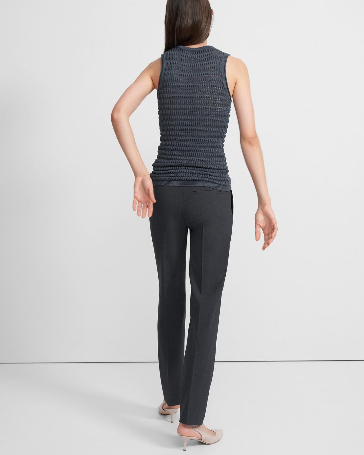 Textured Tank in Cotton-Viscose