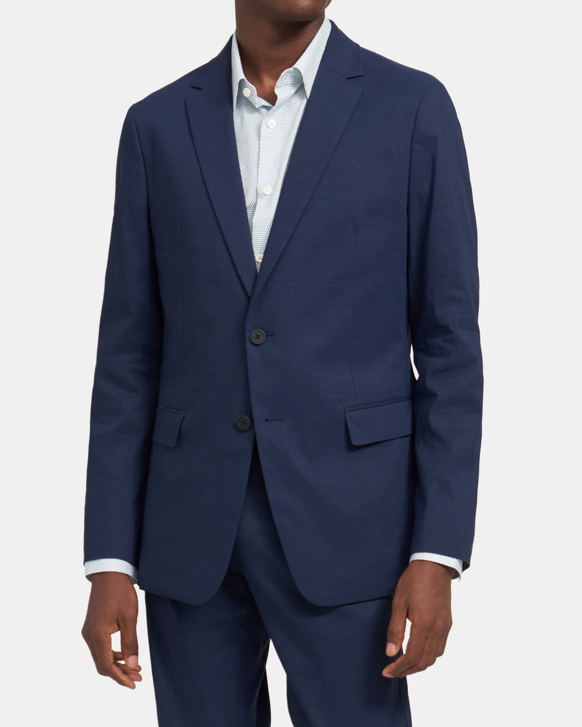Clinton Blazer In Tech Linen