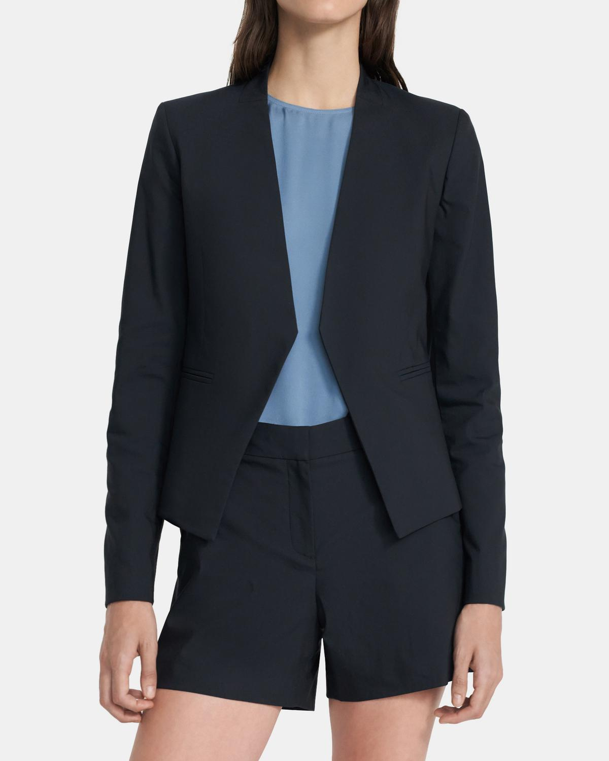 Open Blazer in Stretch Cotton Twill 0 - click to view larger image