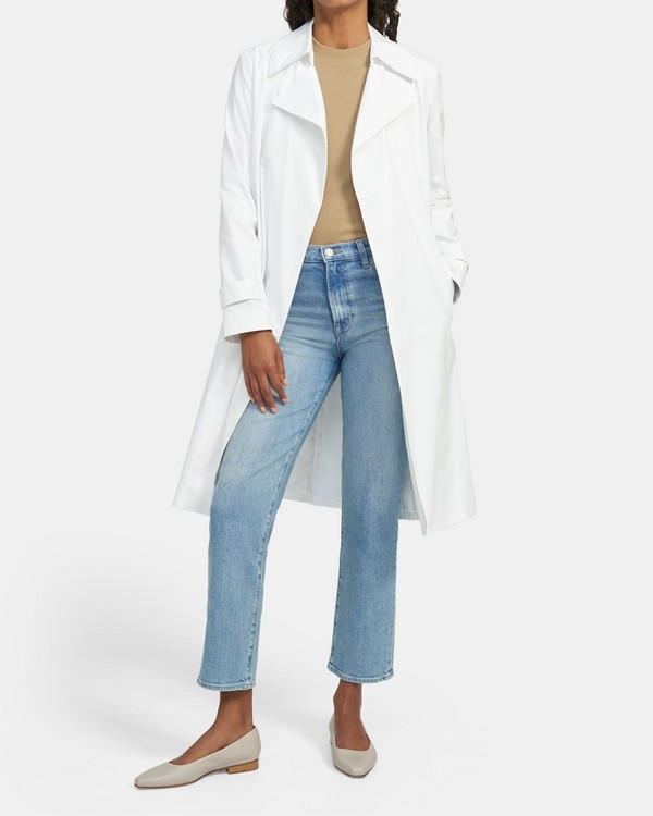 Relaxed Trench Coat in Stretch Cotton Twill
