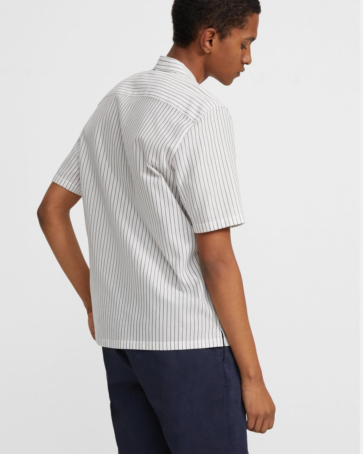 Daze Short-Sleeve Shirt in Pinstripe Cotton