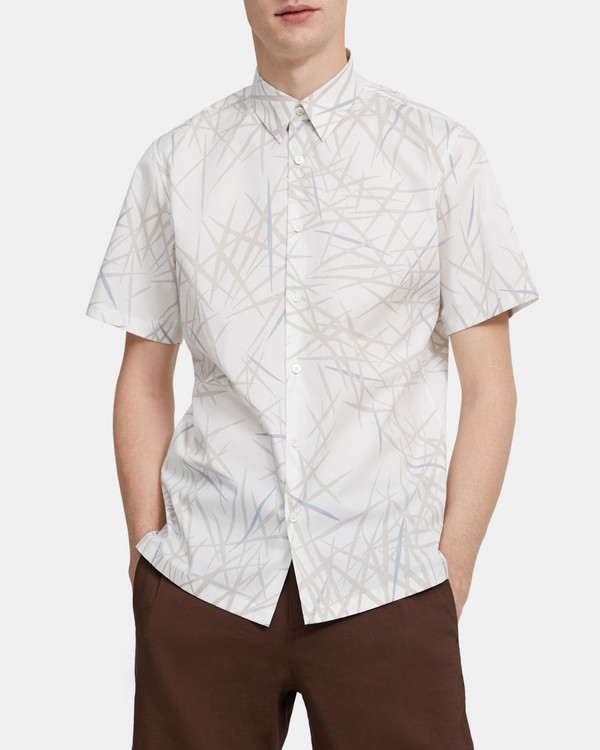Standard-Fit Short-Sleeve Shirt in Tropic Print