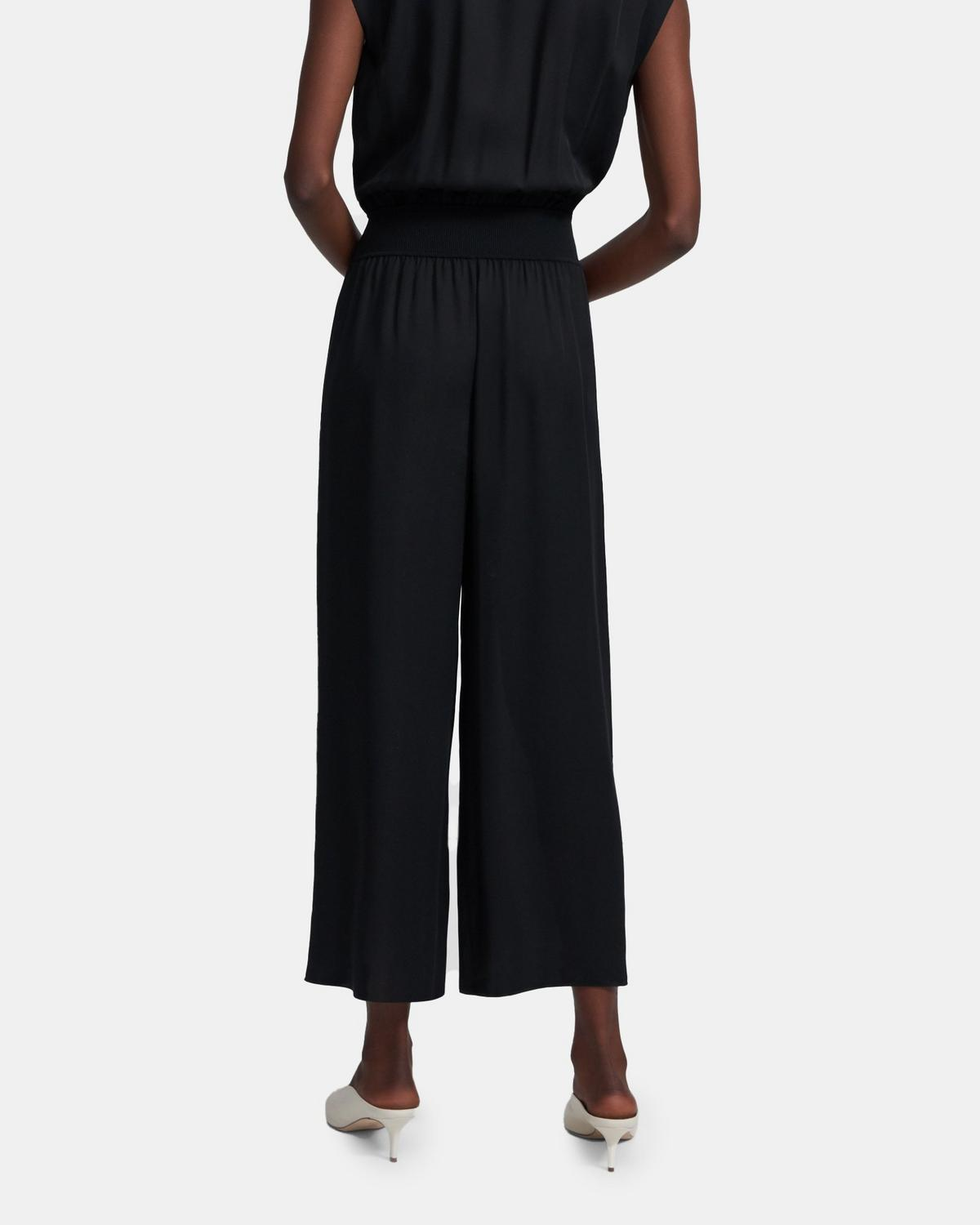 Draped Jumpsuit in Silk