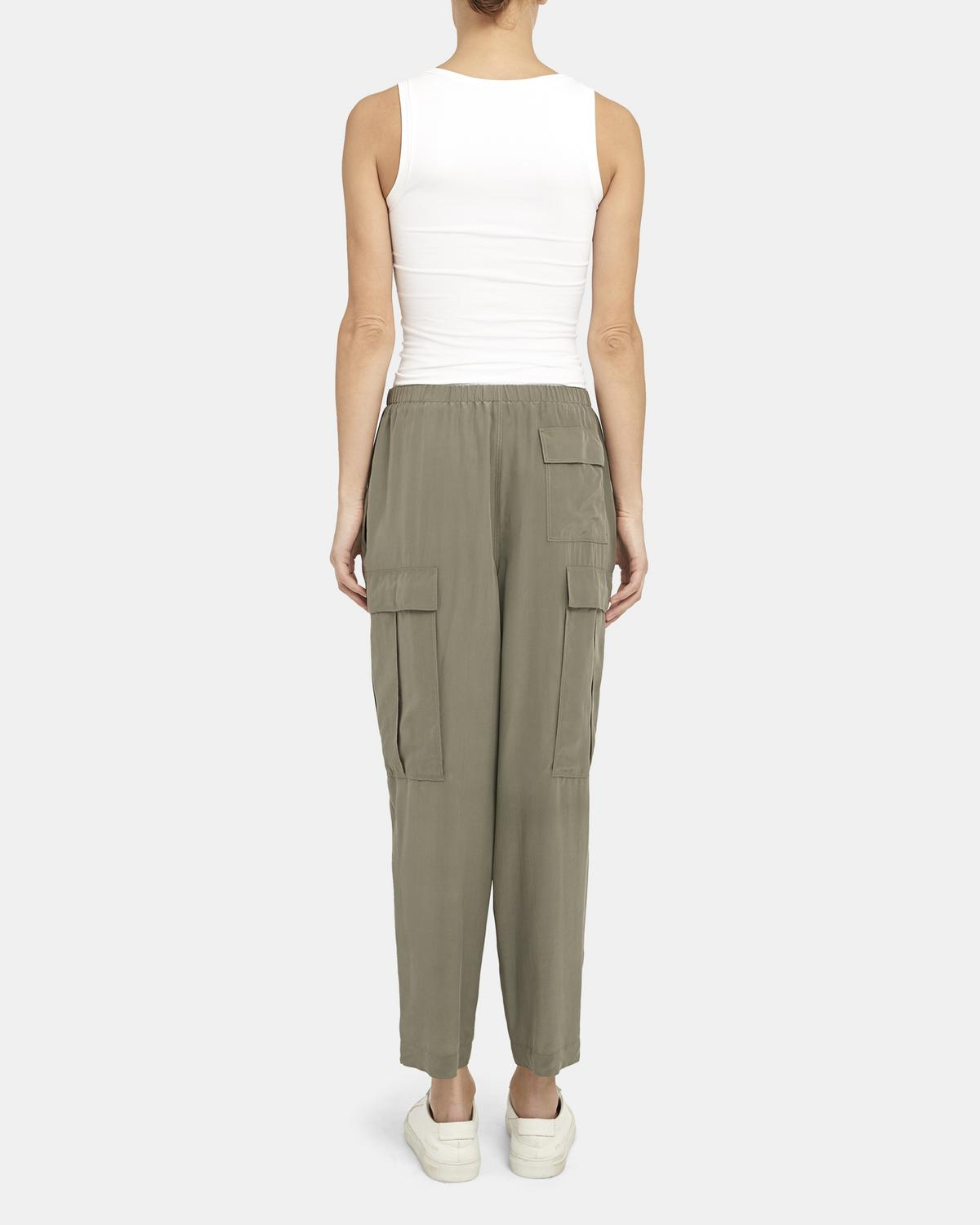 Utility Cargo Pant in Sandwashed Silk