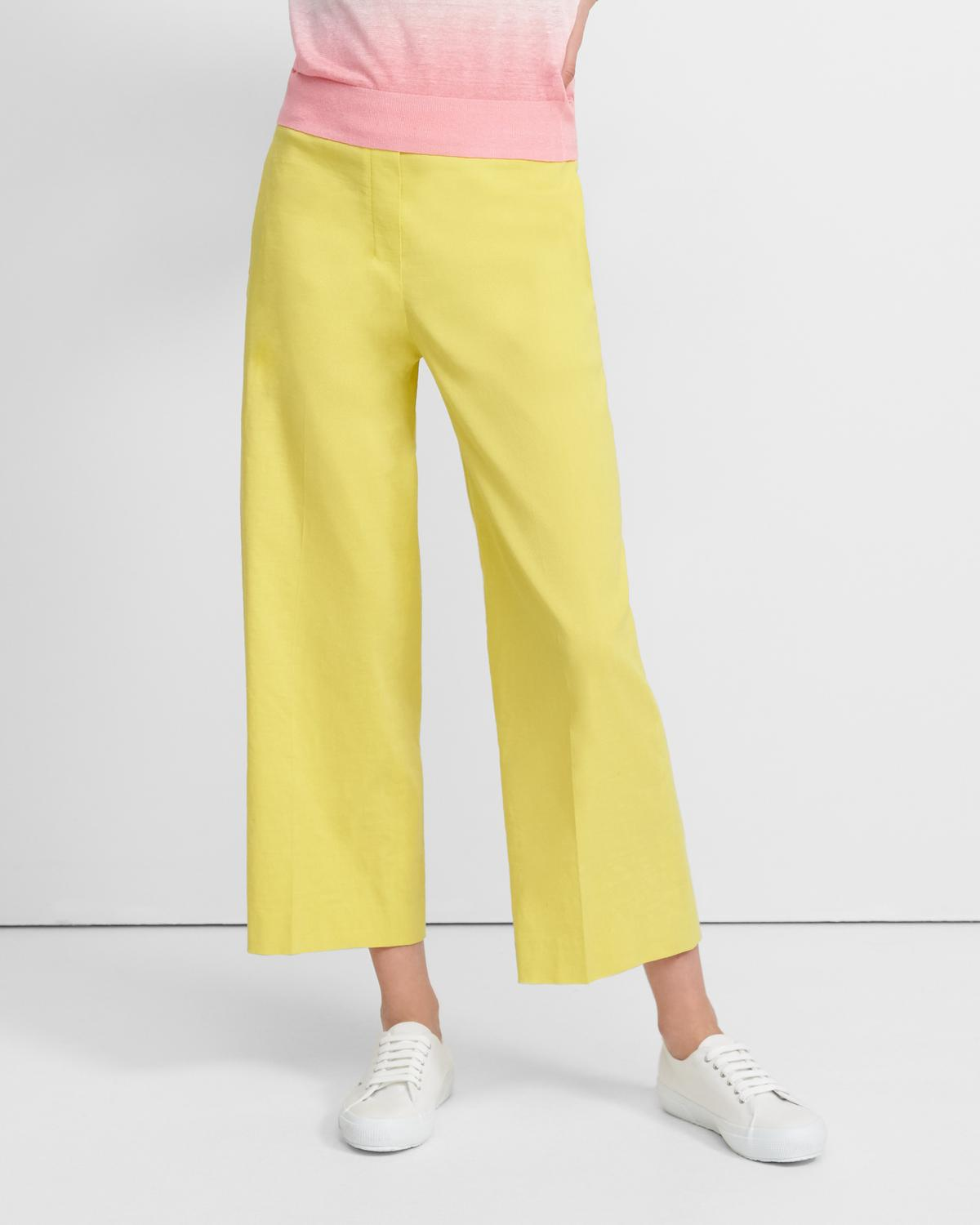 Cropped Pull-On Pant in Good Linen