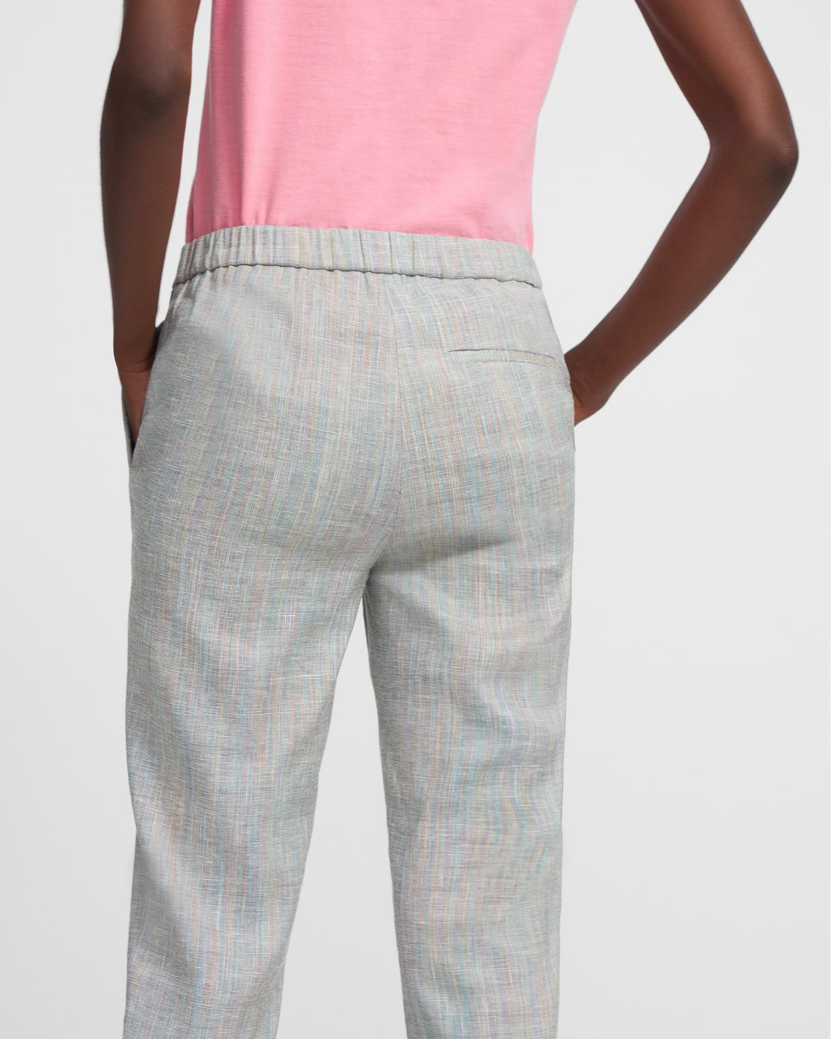Treeca Pull-On Pant in Multicolored Stretch Linen