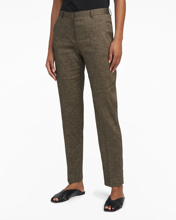 Slim Pant in Textured Linen