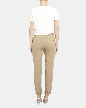 Cuffed Treeca Pant in Garment Dyed Cotton