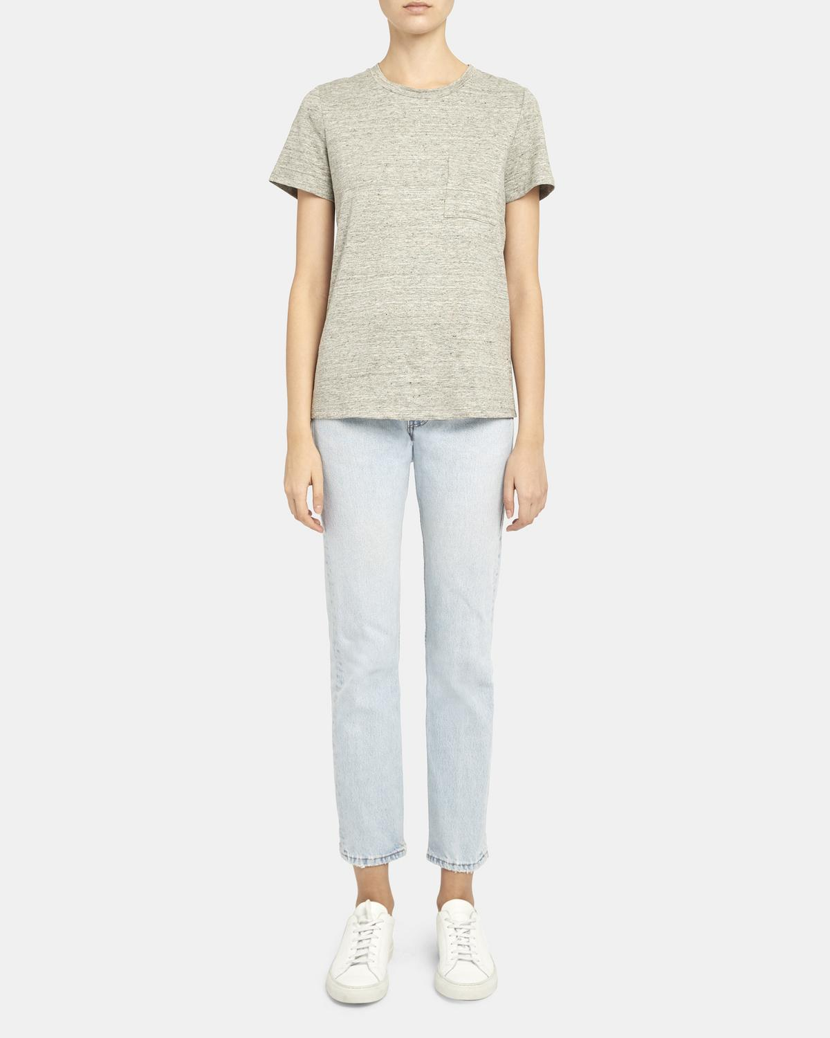 Easy Pocket Tee in Flex Linen 0 - click to view larger image