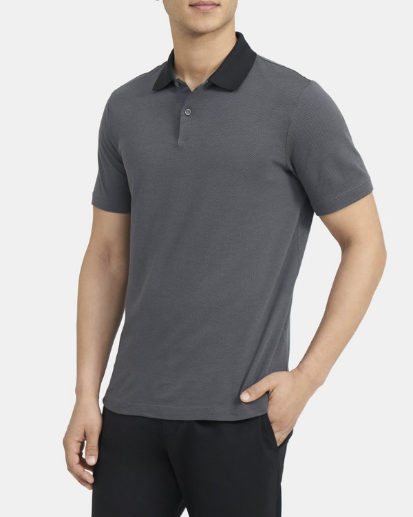 Standard Polo Shirt in Birdseye Cotton Blend