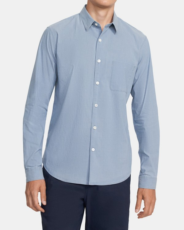 Long-Sleeve Shirt in Harbor Chambray