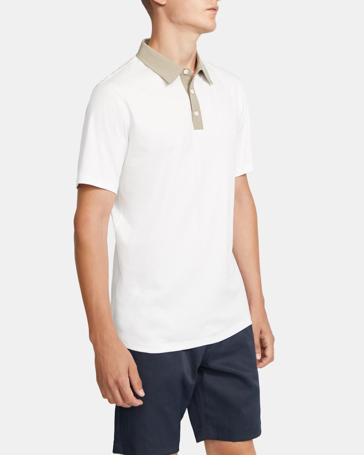 Combo Polo Shirt in Cotton