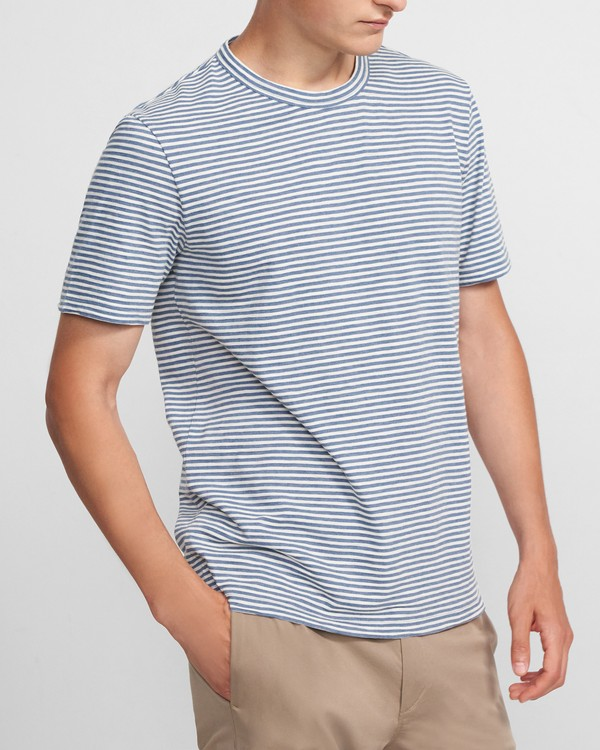 Crewneck Tee in Striped Cotton