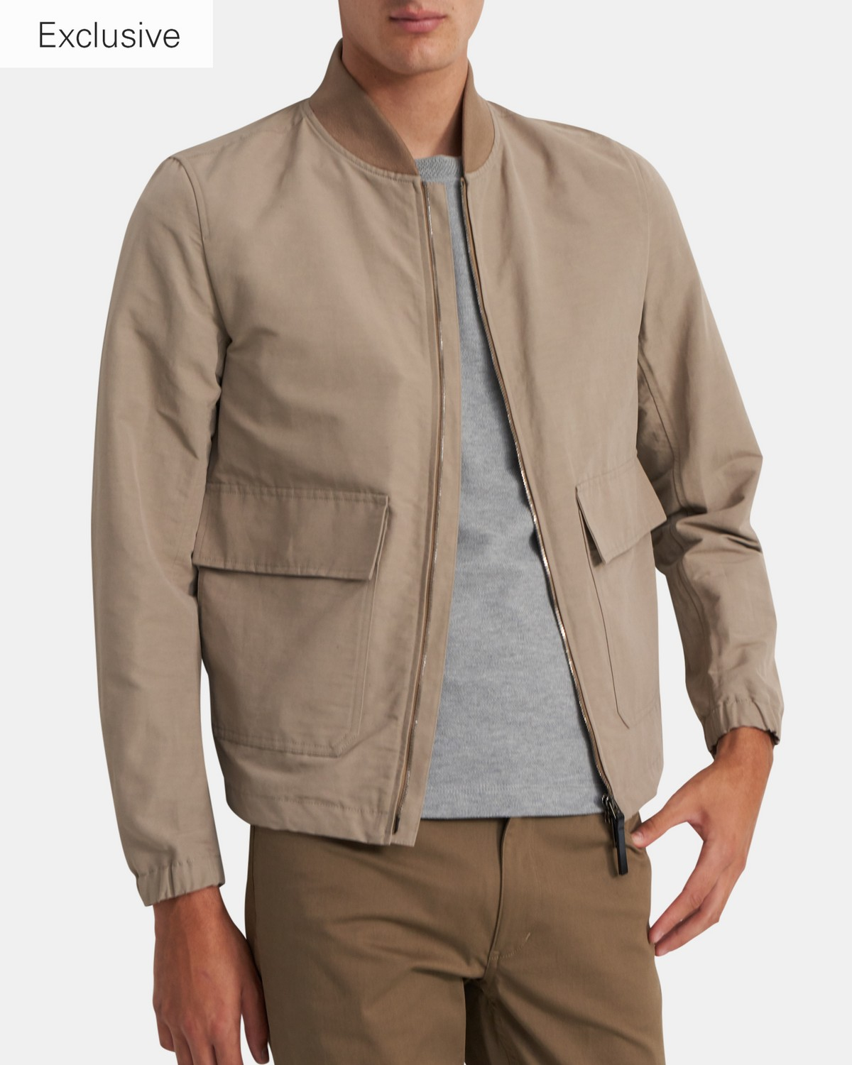 City Utility Bomber Jacket in Linen Blend